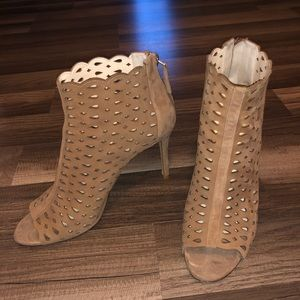 Nine West peep toe booties